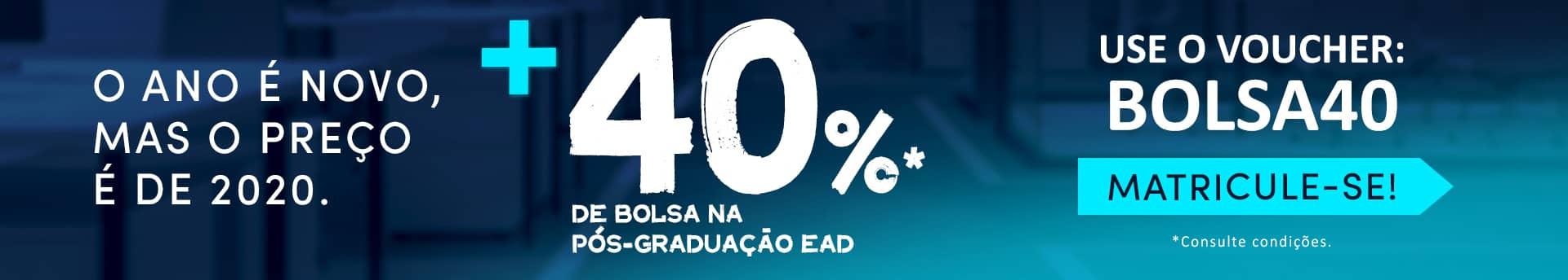 Curso Pós: Bolsa de estudo de 40%