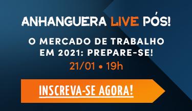 Assista a live sobre mercado de trabalho pelo facebook da Pós Anhanguera