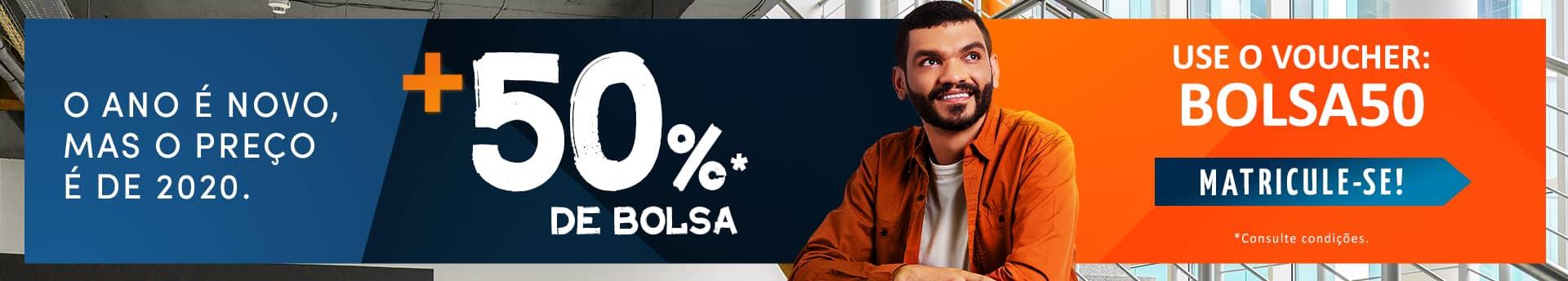 Curso Pós: Bolsa de estudo de 50%