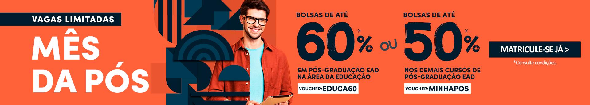 Uniderp Pós-Graduação EAD: Pós-Graduação com 60%, aproveite!